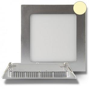 """Einbau Downlight """"Ultra Flach"""", eckig, silber, dimmbar, 9 Watt, warmweiß-35458"""