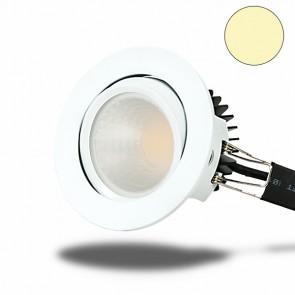 LED Einbaustrahler COB 68, weiß, 8W, rund, warmweiß-35011