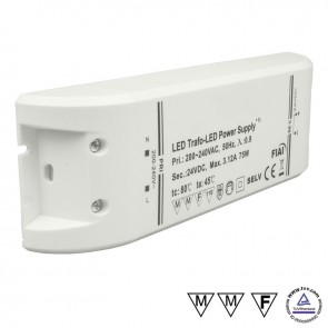 Trafo 24V/DC, 0-75W-35023