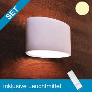 LED Gipsleuchte überstreichbar mit tauschbaren G9 Leuchtmittel 2W MINI COB-39275
