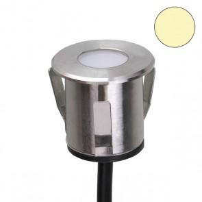 LED Einbaustrahler, Edelstahl , 0,6 Watt, IP68, 12V/DC, warmweiss-35225