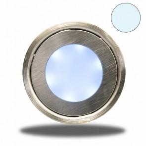 """LED Bodenstrahler """"EASY-LIGHT"""", rund, IP54, edelstahl, kaltweiß-32726"""