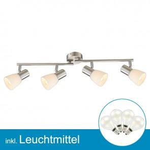LED Strahler nickel matt mit Leuchtmittel E14, 2 Watt, warmweiss-39310