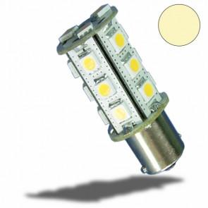 LED BA15S Leuchtmittel, 10-30V/DC, 18SMD, 3 Watt, warmweiß-32498
