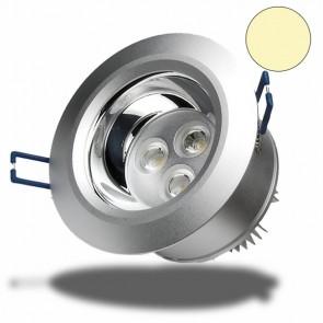 LED Einbaustrahler, 3x3W, 60°, warmweiss, dimmbar-32226