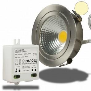 LED Möbel-Einbaustrahler COB mit Reflektor, 3W, nickel geb., warmweiss-35033
