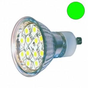 LED Leuchtmittel GU10 1,6 Watt, grün-31045