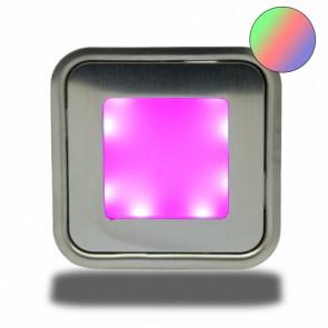 """LED Bodenstrahler """"EASY-LIGHT"""", quadr., IP54, edelstahl, RGB-32730"""