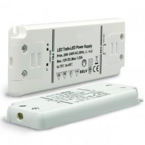 Trafo 12V/DC, 0-15W, ultraflach-35162