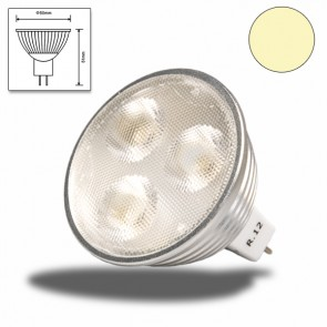 LED-Spot Strahler MR16 3x2 watt, warmweiss, dimmbar-31134