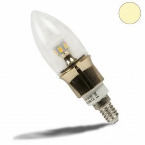 E14 LED Kerze gold, 5 Watt, klar, warmweiss, dimmbar-35039