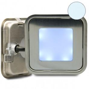 """LED Bodenstrahler """"EASY-LIGHT-OUT"""", quadr., IP67, Edelstahl, kaltweiss-32751"""