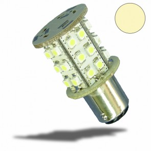 LED BA15S Leuchtmittel, 10-30V/DC, 30SMD, 1,5 Watt, warmweiß-32492