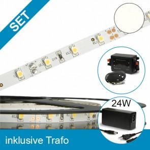 SET LED STD Flexband neutralweiss + 24W Trafo + Controller-39283