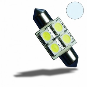 LED Soffitte 31mm 10-30V/DC, 4SMD, 0,7Watt, Kaltweiß-32525