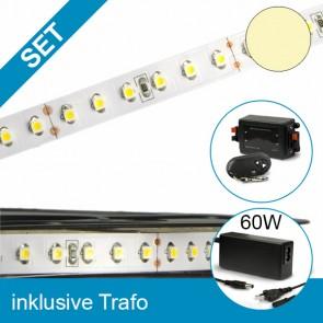 SET LED STD-Flexband warmweiss + 60W Trafo + Dimmer-39262