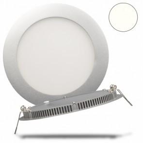 LED Einbauleuchte Panel Flach, rund, silber, 10 Watt, neutralweiß-32451