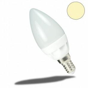 E14 LED Keramik milky Kerze , 4 Watt, warmweiss-32877