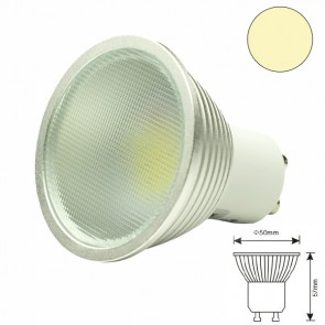 LED-Spot GU10 12HSMD 5 Watt, warmweiss, dimmbar-31082