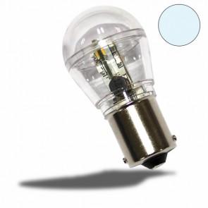 LED BA15S Birne, 10-30V/DC, 16SMD, 0,7 Watt, kaltweiß-32484
