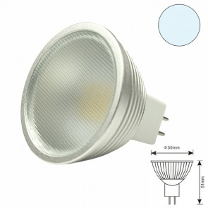 LED MR16 12HSMD 5 Watt, kaltweiss, dimmbar-31110