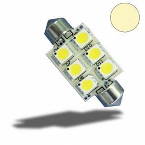 LED Soffitte 42mm, 10-30V/DC, 6SMD, 1Watt, warmweiß-32514