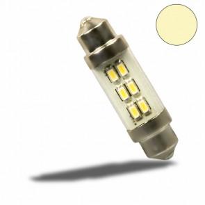 LED Soffitte 37mm mit Glas, 10-30V/DC, 6SMD, 0,9Watt, warmweiß-32520