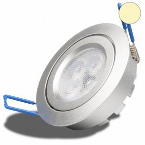 LED Einbaustrahler SMD 8W, 72°, silber, rund, warmweiß, dimmbar-35050