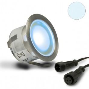"""LED Bodenstrahler """"EASY-LIGHTEYE"""", rund, IP67, Edelstahl, kaltweiss-32754"""