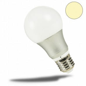 E27 LED Birne 10W, 270°, silber, warmweiss-32981