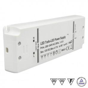 Trafo 12V/DC, 0-50W, ultraflach-35020