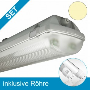 LED T8 Wannenleuchte, 4370 lm, 52 W, warmweiß, frosted-39356