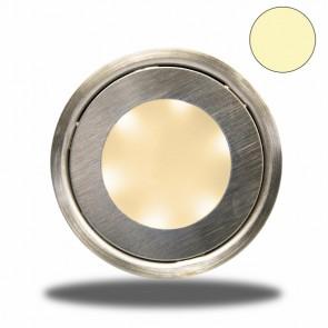"LED Bodenstrahler ""EASY-LIGHT"", rund, IP54, edelstahl, warmweiß-32725"