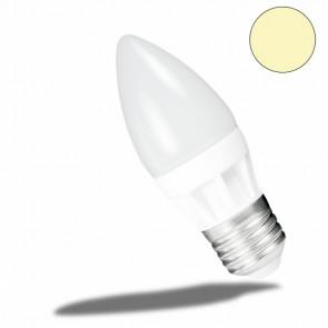 E27 LED Keramik milky Kerze , 4 Watt, warmweiss-32878