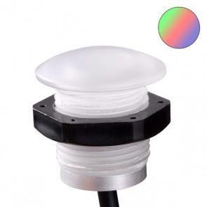 LED PC-Einbaustrahler mit Kontermutter, 0,6 Watt, IP67, 12V/DC, RGB-35224