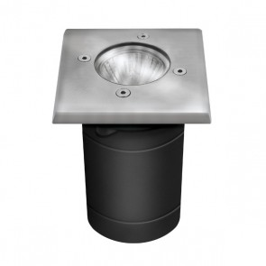 Bodeneinbaustrahler GU10, Quadratisch, DM: 100x100mm-32133