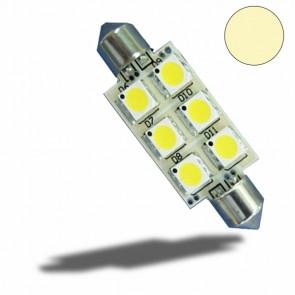 LED Soffitte 37mm 10-30V/DC, 6SMD, 1 Watt, Warmweiß-32522