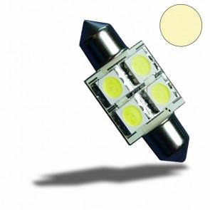 LED Soffitte 31mm 10-30V/DC, 4SMD, 0,7Watt, warmweiß-32526