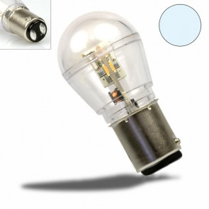 LED BAY15D Birne, 10-30V/DC, 16SMD, 0,7 Watt, kaltweiß-32488