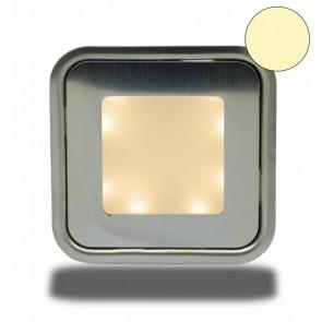 """LED Bodenstrahler """"EASY-LIGHT"""", quadr., IP54, edelstahl, warmweiß-32728"""