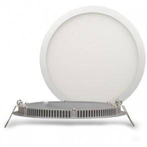 "LED Downlight ""ultra flach"" weiß 18W, 120°, inkl. Driver, warmweiß-35293"