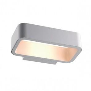 LED Wandleuchte IP54, 1x6W CREE, silber, warmweiss-35195