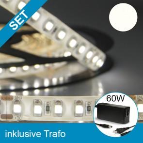 SET LED Silikon-Flexband neutralweiss + 60W Trafo-39256