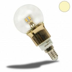 E14 LED Birne gold, 5 Watt, klar, warmweiss, dimmbar-35044