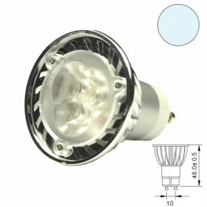 LED-Spot Strahler GU10 3x1 Watt, T2, weiss-31008
