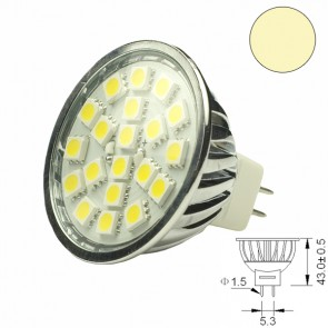 LED-Spotlight Strahler MR16 20SMD 3,6 Watt, warmweiss-31056