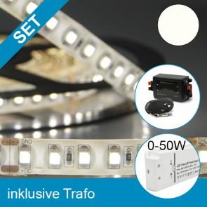 SET LED Silikon Flexband neutralweiss + 50W Trafo + Controller-39290
