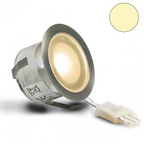 "LED Bodenstrahler ""EASY-LIGHTEYE"", rund, IP54, Edelstahl, warmweiss-32755"