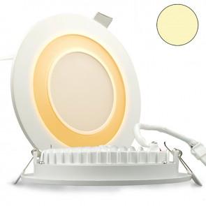 """LED Doppel Ring Einbaustrahler 2-farbig """"WARMWEIß/ORANGE"""", 15W, weiß-35297"""