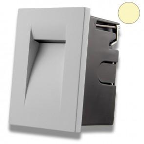LED Wandeinbauleuchte für den Innen-/Außenbereich in Silber, 3W, warmweiß-35638